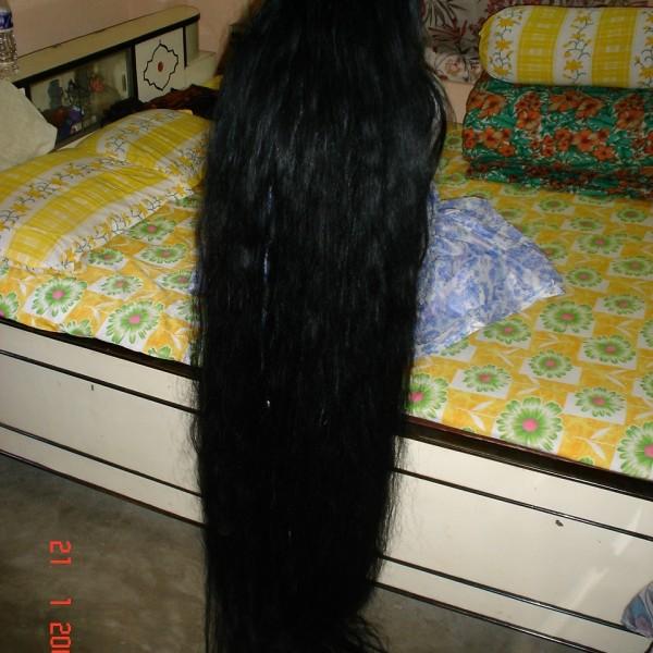 long hair play by husband