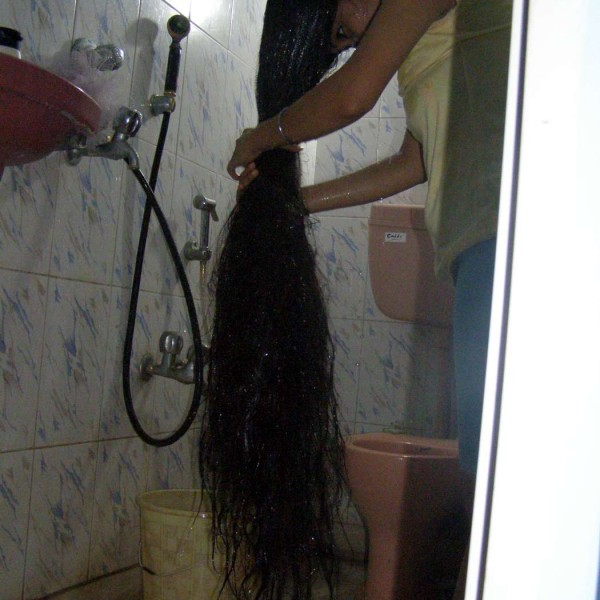 long hair wash