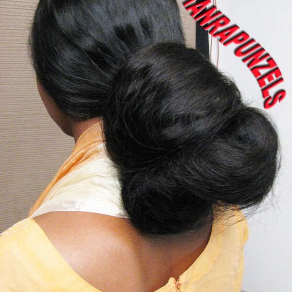 indian long hair buns