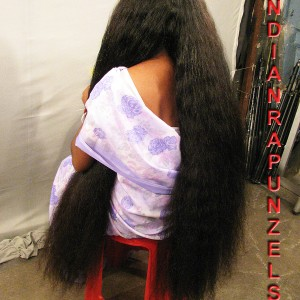 long hair oiling