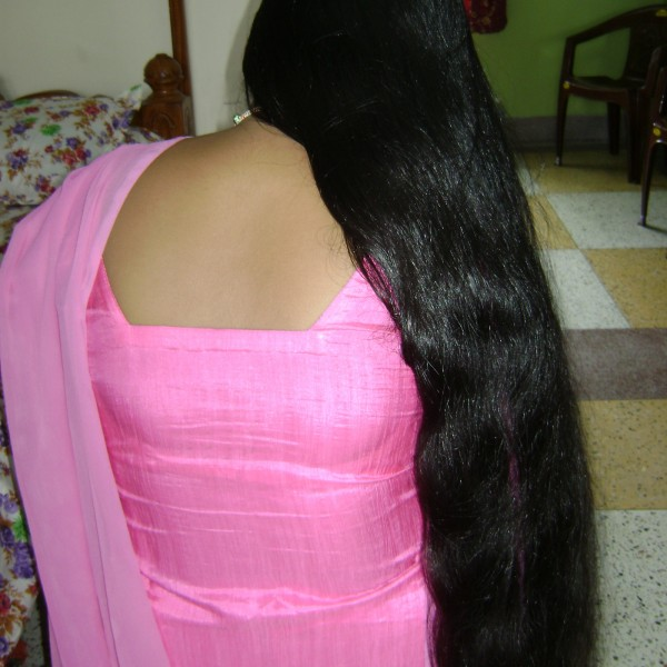 silky long hair video