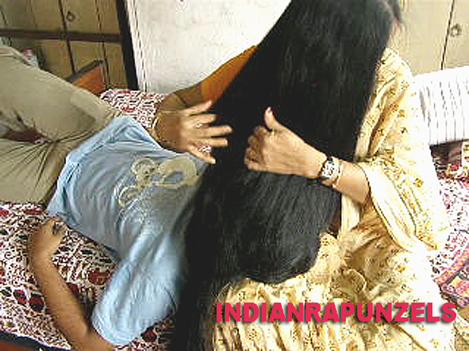 long hair pull
