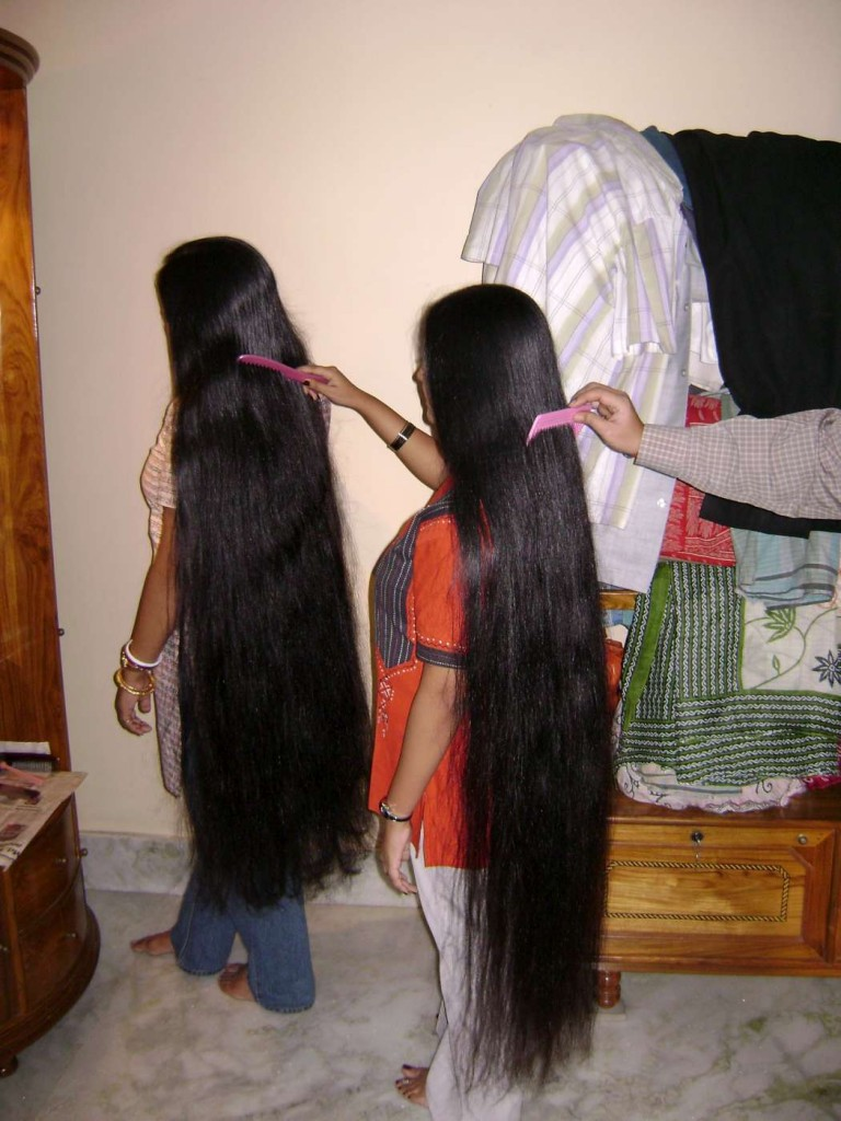 combo long hair combing