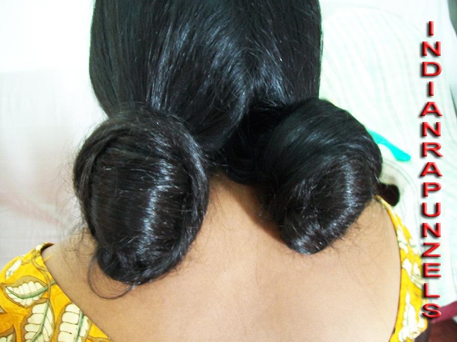 knee length hair play