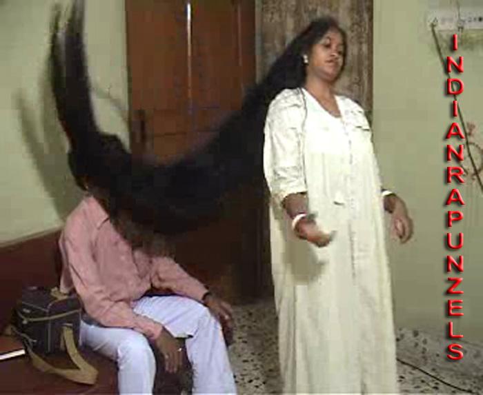 floor length hair play