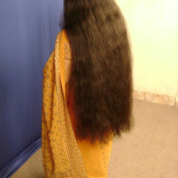 thick long hair video
