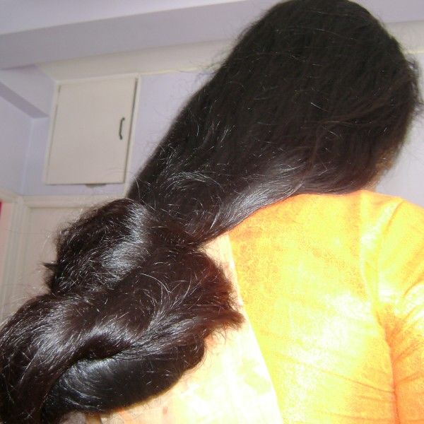 long hair play by husband