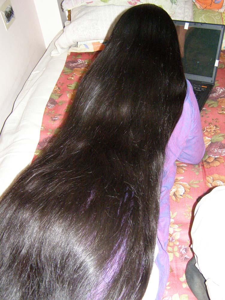 long hair photos model P4