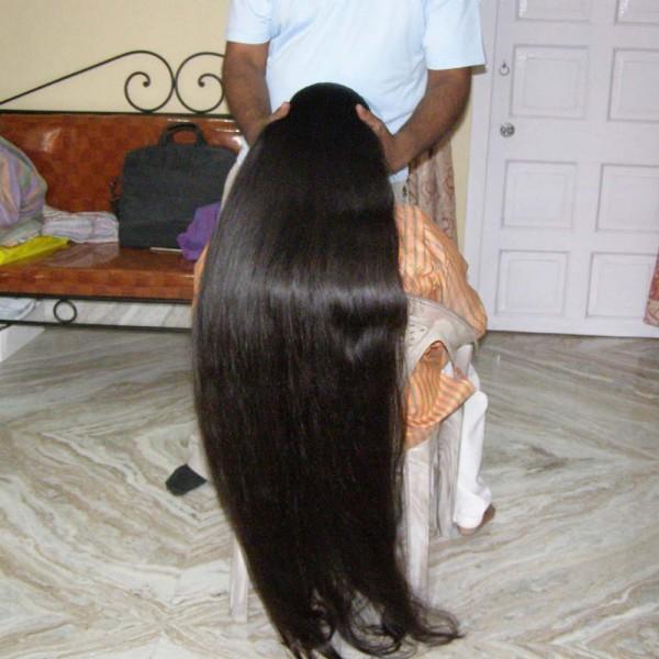 extreme long hair play