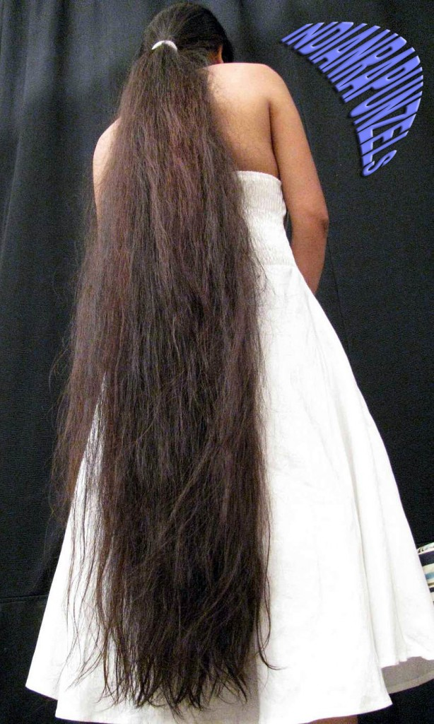 long hair lady in black & white