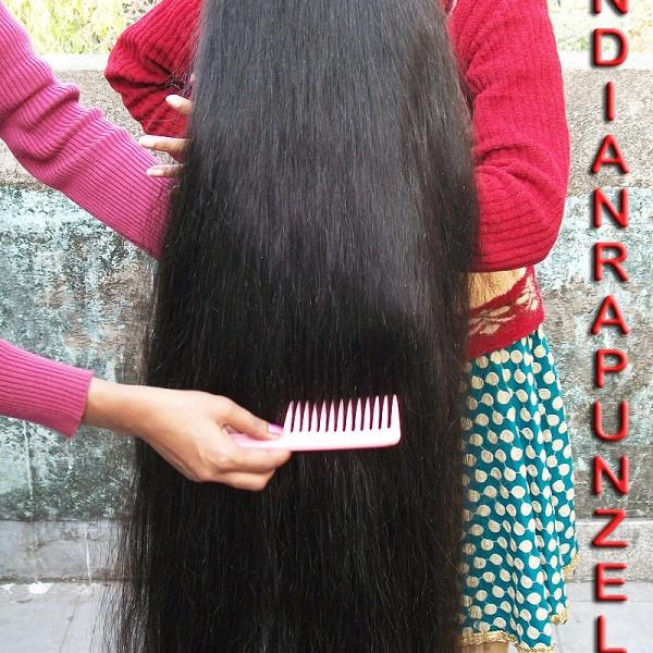 very long hair play video