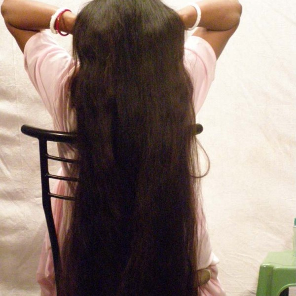 long hair heavy oiling