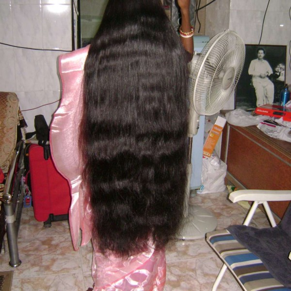very long hair combing
