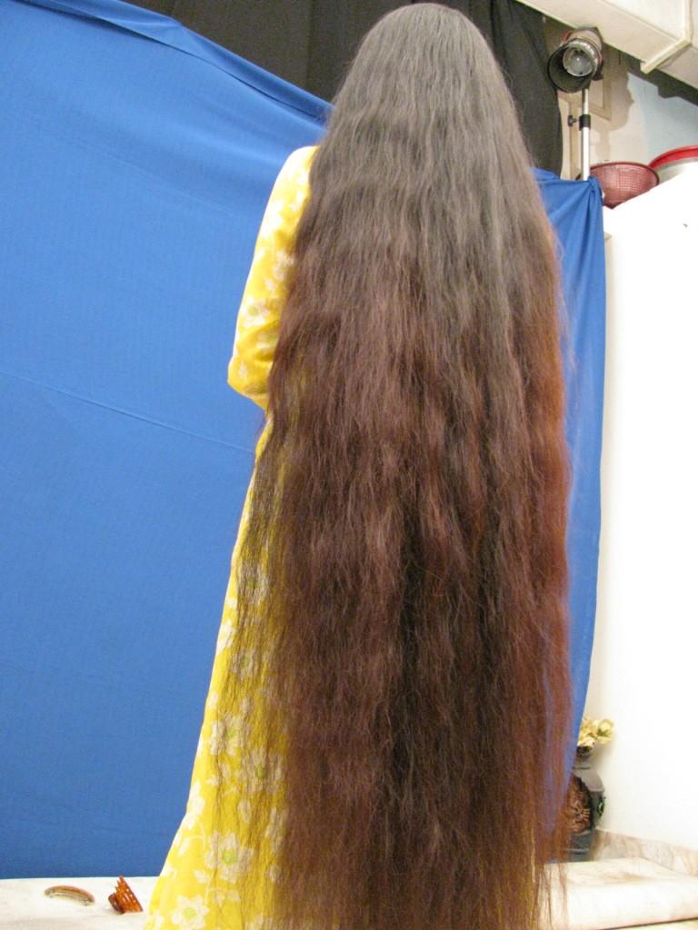 long hair flaunting