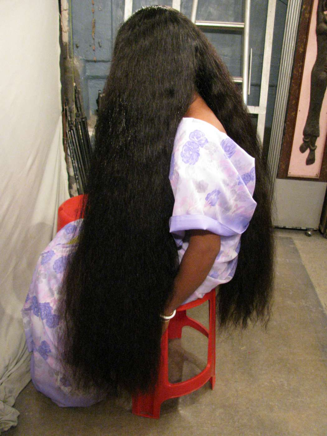 very thick long hair photo