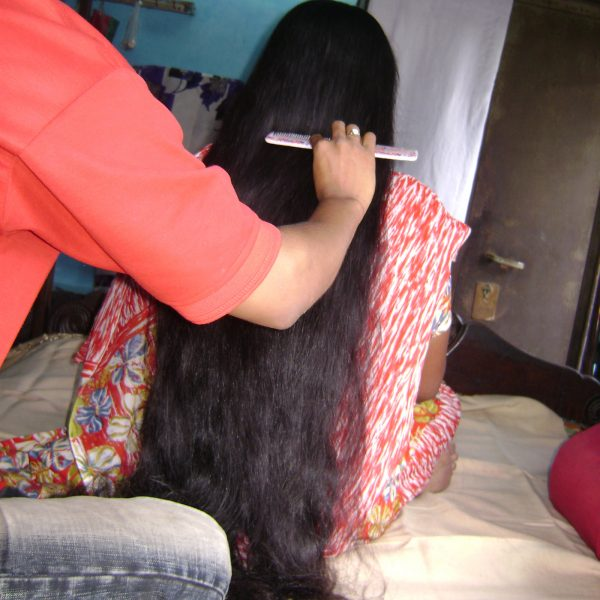 brush my long hair