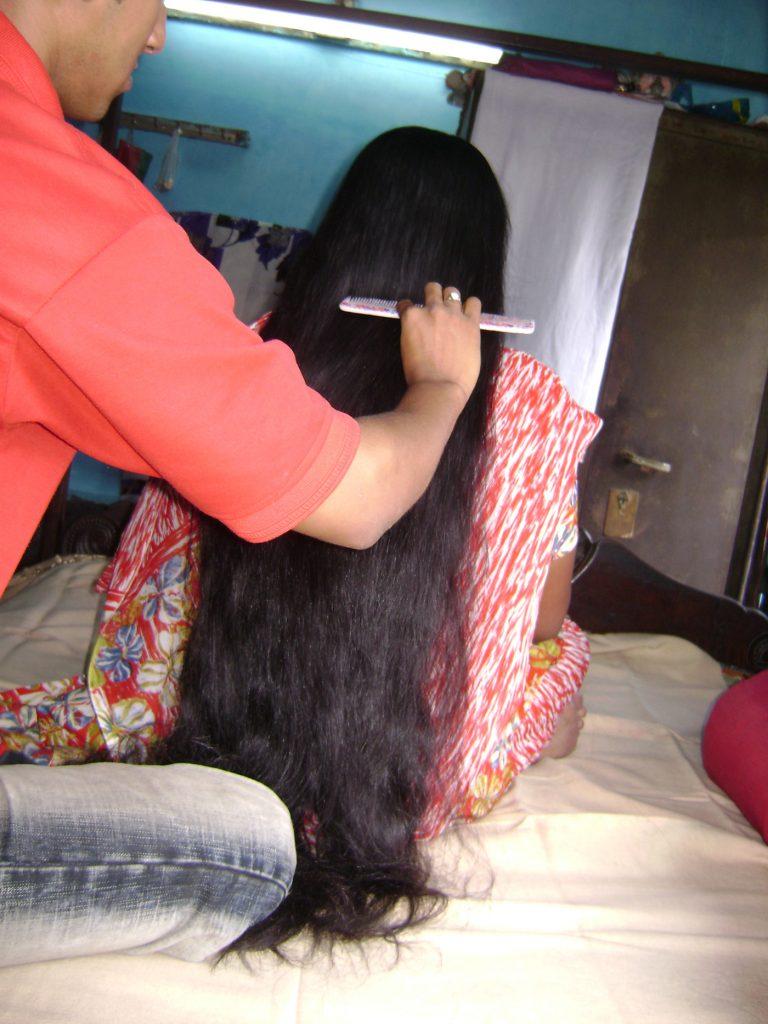 brush my long hair