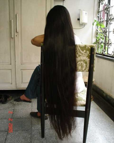 very long silky hair styling